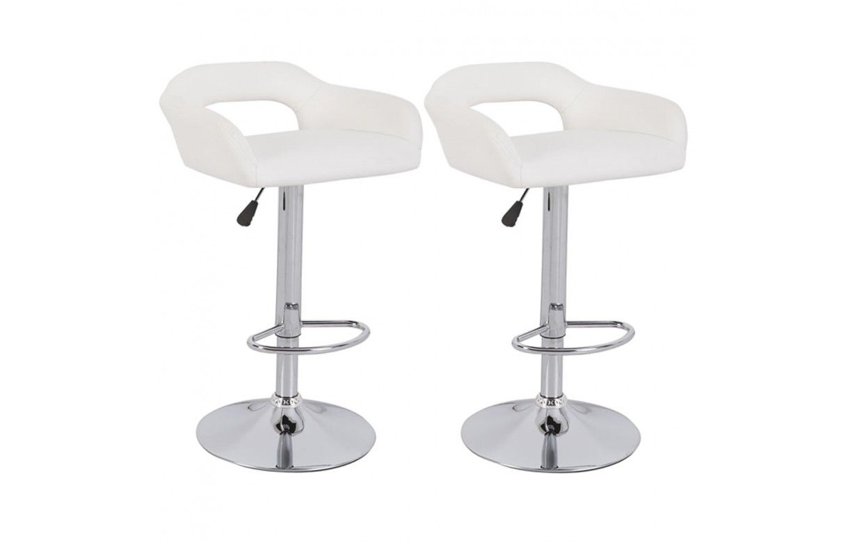 chaise de bar design en simili cuir 5 coloris minoa lot de 2 decome store. Black Bedroom Furniture Sets. Home Design Ideas