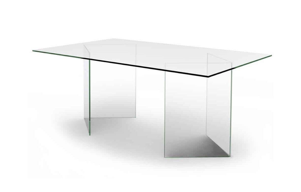 Bureau de luxe en verre transparent