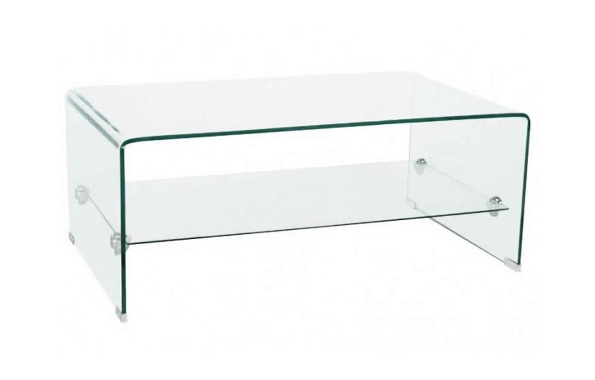 Meuble Tv En Verre Tremp S Rigraphi 10mm Teva Decome Store # Table Basse En Verre Tele