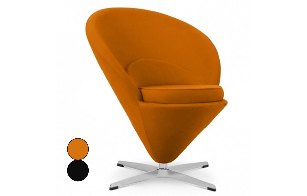 fauteuil design orange ou noir en velours glam decome store. Black Bedroom Furniture Sets. Home Design Ideas