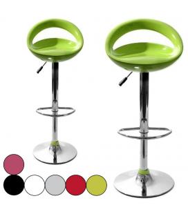 Tabouret de bar vert pomme Menfis 6 coloris - Set de 2