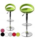 Tabouret de bar vert pomme Menfis 6 coloris - Set de 2 -