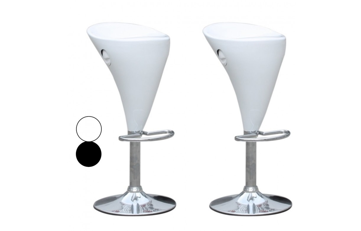 tabouret de bar blanc ou noir cobra set de 2 decome store. Black Bedroom Furniture Sets. Home Design Ideas