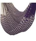 Hamac chaise mexicain en tissu violet avec rayures -