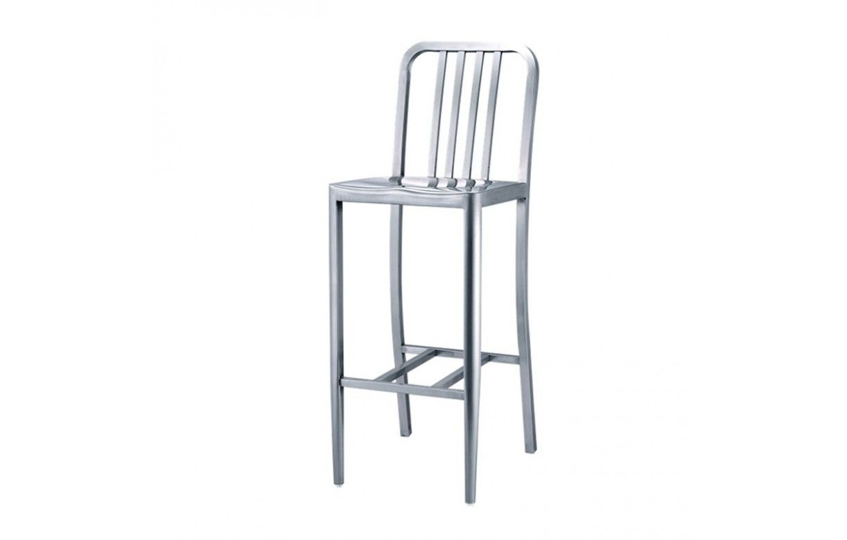 tabouret de bar en aluminium bross yealy decome store. Black Bedroom Furniture Sets. Home Design Ideas