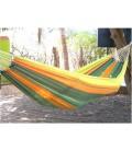 Hamac multicolore en tissu 100% coton pour une ou deux personnes -