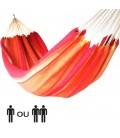 Hamac rouge orange jaune simple ou double 100% coton -