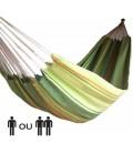 Hamac simple avec rayures vertes 100% coton -