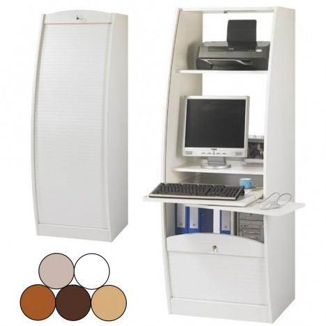 Super Bureau secrétaire informatique à rideau déroulant Largeur 60cm - 5 RE-04