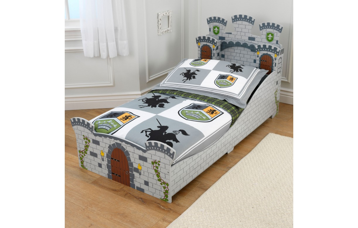 lit enfant chateau fort gris pour petit garcon kidkraft 76279. Black Bedroom Furniture Sets. Home Design Ideas
