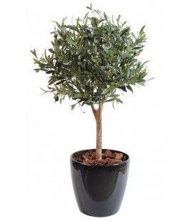 Arbre artificiel petit olivier taillé en boule -
