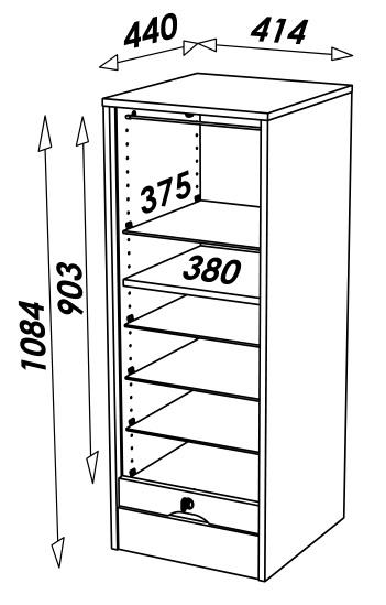 Dimensions classeur a rideaux 110