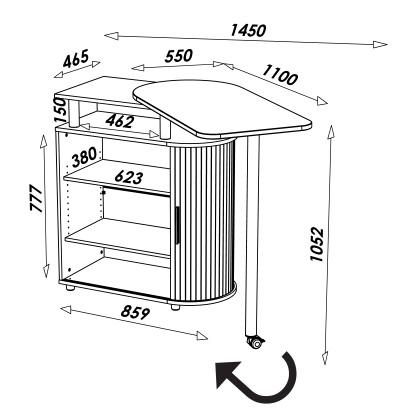 Dimensions meuble cuisine 271